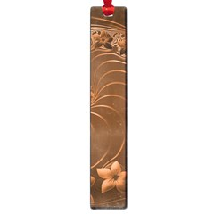 Brown Abstract Flowers Large Bookmark