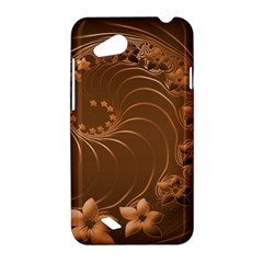 Brown Abstract Flowers HTC T328D (Desire VC) Hardshell Case