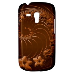 Brown Abstract Flowers Samsung Galaxy S3 Mini I8190 Hardshell Case