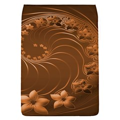 Brown Abstract Flowers Removable Flap Cover (small)