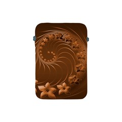 Brown Abstract Flowers Apple iPad Mini Protective Soft Case