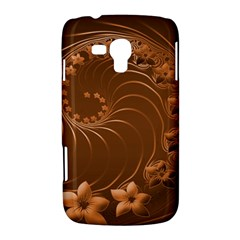 Brown Abstract Flowers Samsung Galaxy Duos I8262 Hardshell Case