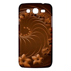 Brown Abstract Flowers Samsung Galaxy Mega 5.8 I9152 Hardshell Case