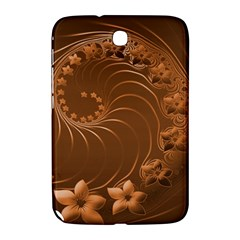 Brown Abstract Flowers Samsung Galaxy Note 8.0 N5100 Hardshell Case