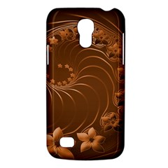 Brown Abstract Flowers Samsung Galaxy S4 Mini Hardshell Case