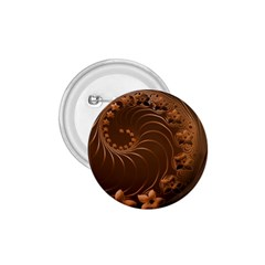 Dark Brown Abstract Flowers 1.75  Button