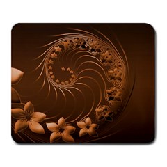 Dark Brown Abstract Flowers Large Mouse Pad (rectangle)