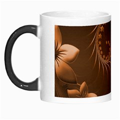 Dark Brown Abstract Flowers Morph Mug