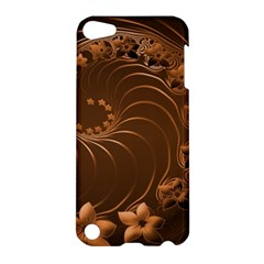 Dark Brown Abstract Flowers Apple Ipod Touch 5 Hardshell Case