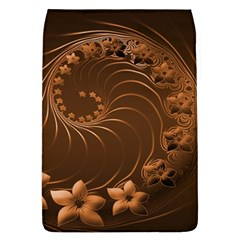 Dark Brown Abstract Flowers Removable Flap Cover (Large)