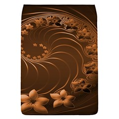 Dark Brown Abstract Flowers Removable Flap Cover (small)