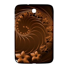 Dark Brown Abstract Flowers Samsung Galaxy Note 8.0 N5100 Hardshell Case