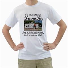 Donnalees Shirt White Mens  T Shirt (white)