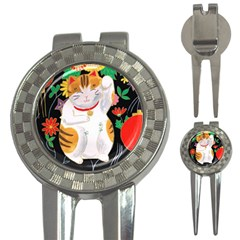 Maneki Neko Golf Pitchfork & Ball Marker