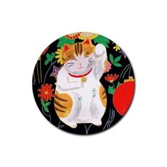 Maneki Neko Drink Coaster (Round)