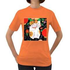 Maneki Neko Womens' T-shirt (Colored)