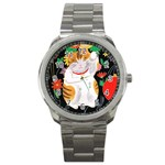 Maneki Neko Sport Metal Watch Front