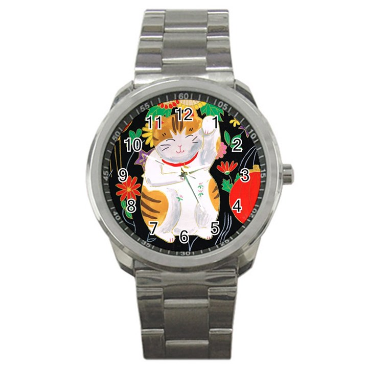 Maneki Neko Sport Metal Watch