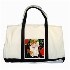 Maneki Neko Two Toned Tote Bag
