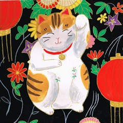 Maneki Neko Canvas 12  x 12  (Unframed)