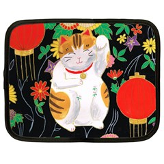 Maneki Neko Netbook Case (Large)
