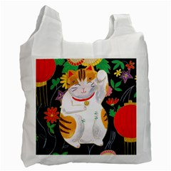 Maneki Neko Recycle Bag (two Sides)
