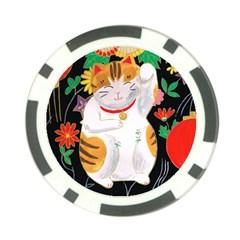 Maneki Neko Poker Chip 10 Pack