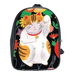 Maneki Neko School Bag (Large)