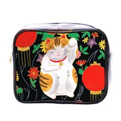 Maneki Neko Mini Travel Toiletry Bag (One Side)