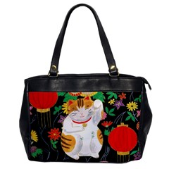 Maneki Neko Oversize Office Handbag (one Side)