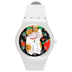 Maneki Neko Plastic Sport Watch (Medium)
