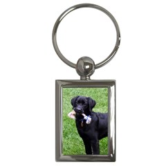Black Lab Key Chain (Rectangle)