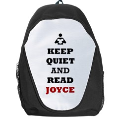 Keep Quiet And Read Joyce Black Backpack Bag