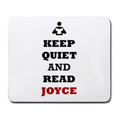 Keep Quiet And Read Joyce Black Large Mouse Pad (rectangle)