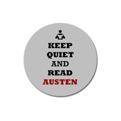 Keep Quiet And Read Austen Magnet 3  (round)