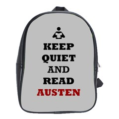 Keep Quiet and Read Austen School Bag (Large)