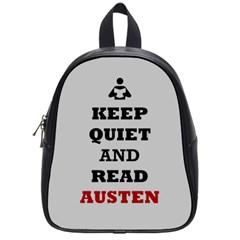 Keep Quiet and Read Austen School Bag (Small)