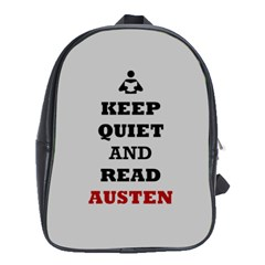 Keep Quiet and Read Austen School Bag (XL)
