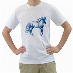 Pasofinowhiteblueblue1500 Mens  T-shirt (White)