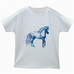 Pasofinowhiteblueblue1500 Kids' T-shirt (White)