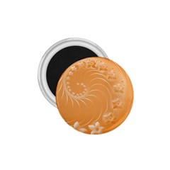 Orange Abstract Flowers 1.75  Button Magnet