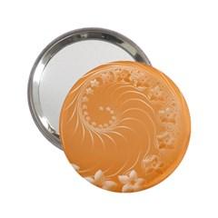 Orange Abstract Flowers Handbag Mirror (2 25 )