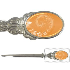 Orange Abstract Flowers Letter Opener