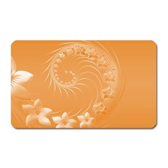 Orange Abstract Flowers Magnet (Rectangular)