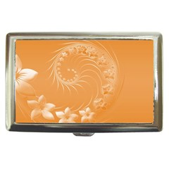 Orange Abstract Flowers Cigarette Money Case