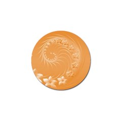 Orange Abstract Flowers Golf Ball Marker 10 Pack