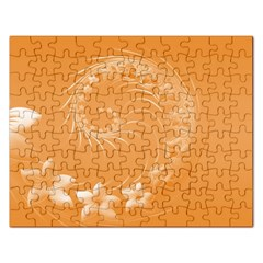 Orange Abstract Flowers Jigsaw Puzzle (rectangle)