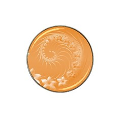 Orange Abstract Flowers Golf Ball Marker (for Hat Clip)