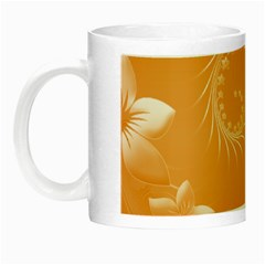 Orange Abstract Flowers Glow in the Dark Mug