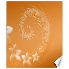 Orange Abstract Flowers Canvas 8  X 10  (unframed)